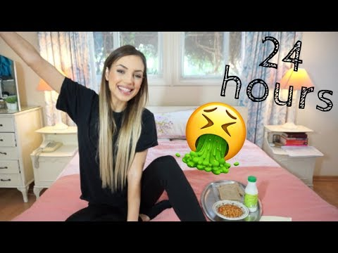 EATING FOOD I HATE FOR 24 HOURS | Manuella