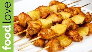 Куриные ШАШЛЫЧКИ С АНАНАСАМИ, запеченные в духовке | Шашлык | FoodLove