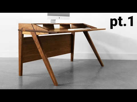 How To Build A Desk | Mid Century Modern Desk Build  Part 1. - The Base