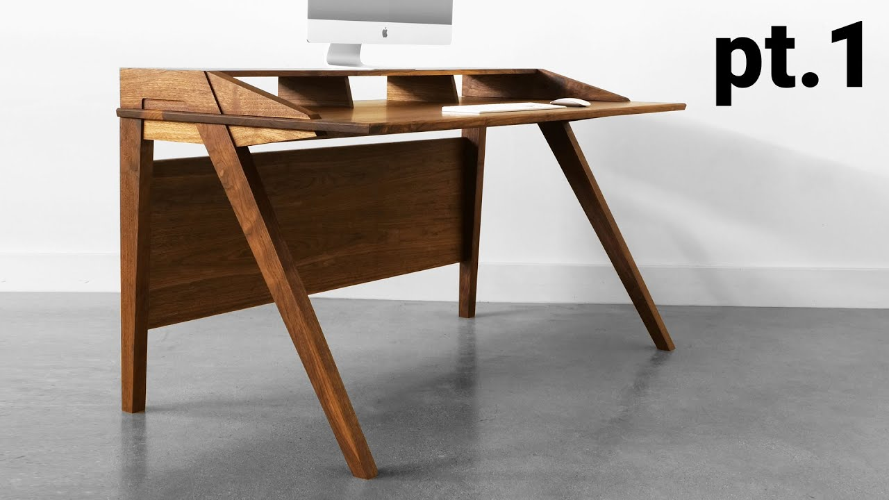 How To Build A Desk Mid Century Modern Desk Build Part 1 The Base Youtube