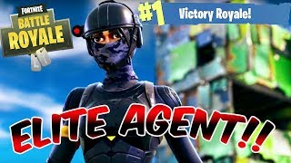 Fortnite Battle Royale - ELITE AGENT UNLOCKED!! - EPIC BUILDING FIGHTS!!