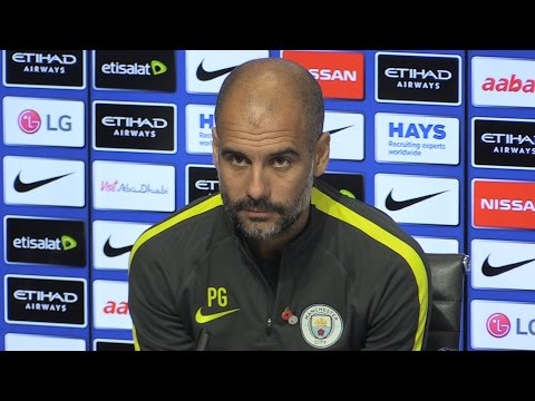 Pep Guardiola Pre-Match Press Conference - Manchester City v Middlesbrough - Welcomes Toure Apology