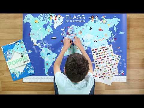 Poppik : les drapeaux du monde en stickers
