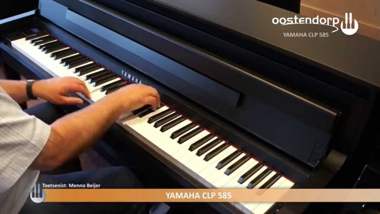 yamaha clp 585 digitale piano sounddemo youtube. Black Bedroom Furniture Sets. Home Design Ideas