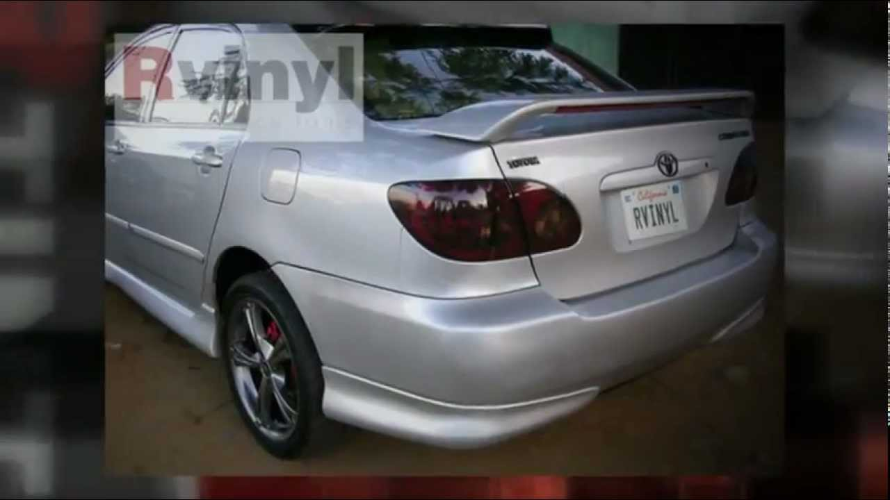Tail Light Tint 2003 2008 Toyota Corolla Rebate Photo