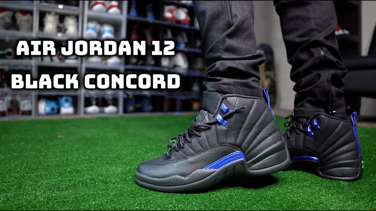 Air Jordan 12 Black Concord Review + On