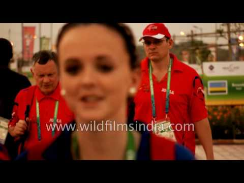International athletes arrive in India for largest sporting event held in Delhi
