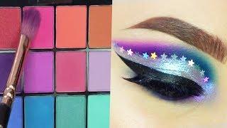 Best Makeup Tutorial 2018 | Colorful Glittery Smokey Eyeshadow | Woah Beauty