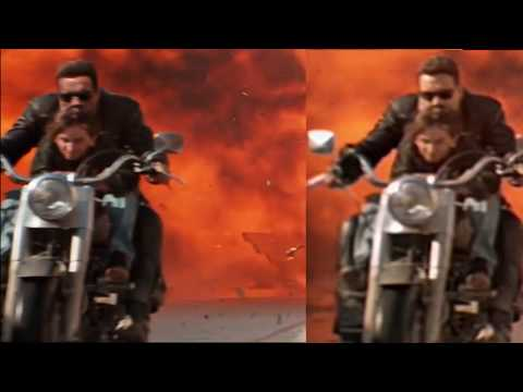 Stunt Double Face Swapped by CGI Arnold in Terminator 2 . Old vs New Comparison Video