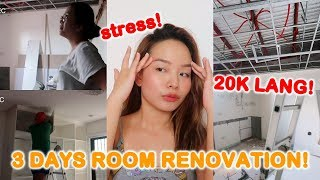 3 DAYS ROOM RENOVATION FOR 20K ONLY!! ANG MURA? DREAM ROOM! | Hazel Quing