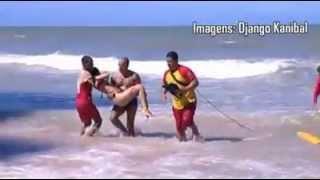 Repeat youtube video Imagens fortes da  turista que foi atacada por tubarão  na praia de Boa viagem, RECIFE