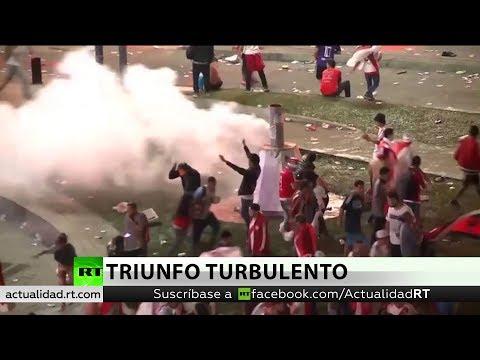 Enfrentamientos con la Policía en los festejos por la victoria del River Plate