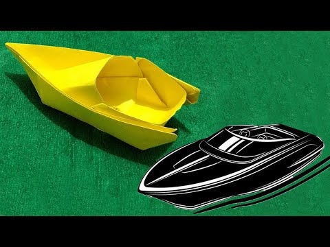 How to make a Paper Speed Boat Origami Tutorial  Step by Step