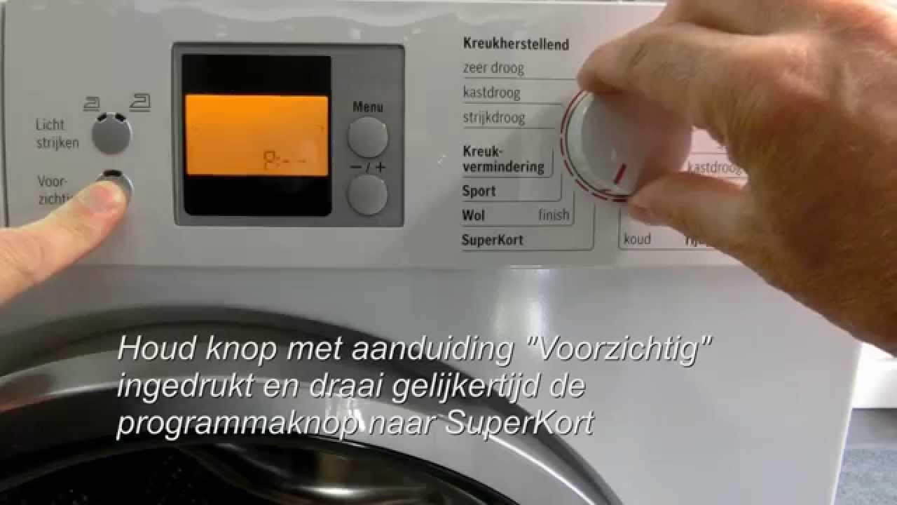 Favoriete Bosch Warmtepomp droger storing waterreservoir - YouTube MT08