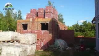 видео строительство кирпичных домов, строительство кирпичных коттеджей, строительство домов из кирпича