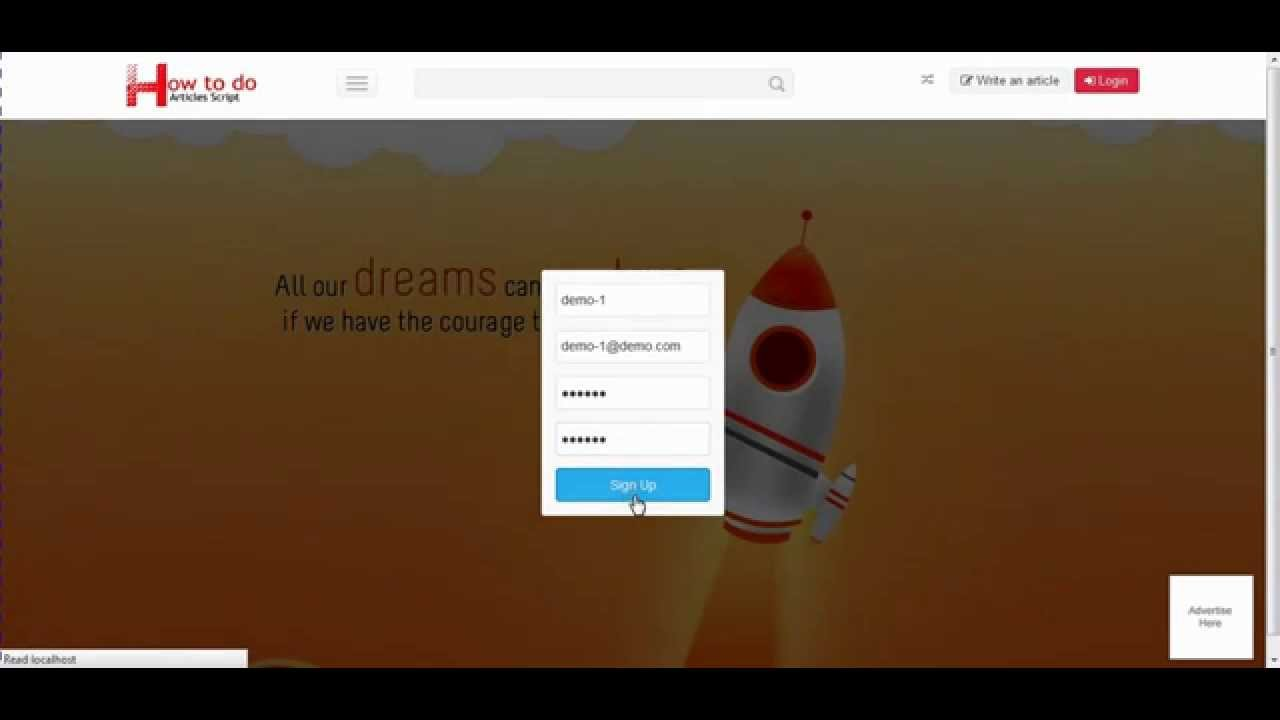 HDPHP How to do Script   Sigup And login Guide