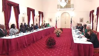 President Obama meets with the President of Kenya