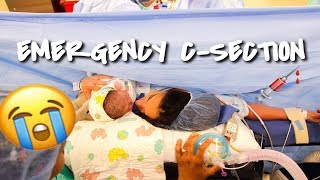 BIRTH VLOG (30 HR LABOR, PUSHED 4HRS & EMERGENCY C-SECTION)
