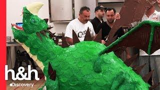 Cómo Hacer Un Pastel De Dragón En Carlos Bakery  Cake Boss  Discovery HandH