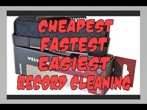 Cheapest, Fastest, Easiest Vinyl Record Cleaning Method!