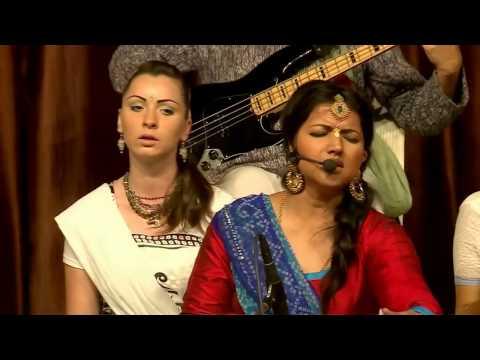 Vrajavadhus Kirtan Team Performing at ISKCON Vrindavan 40th Anniversary