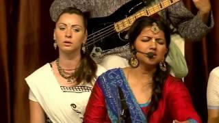 vrajavadhus kirtan team performing at iskcon vrindavan 40th anniversary chanting of mahamantra