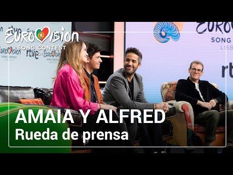 Rueda de prensa de ALFRED y AMAIA,  representantes de España en Eurovisión 2018 con 'Tu Canción'