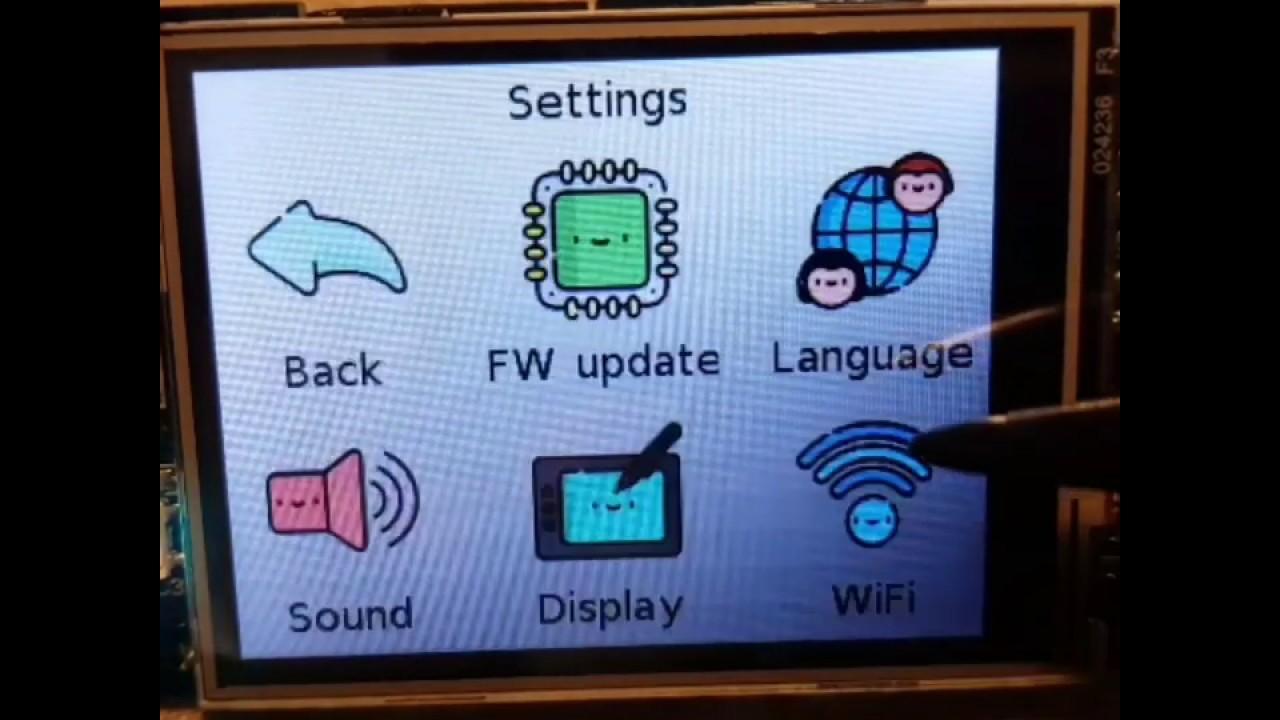 ESP32 Wi-Fi configuration GUI using LittlevGL