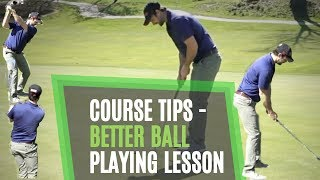 GOLF COURSE TIPS - PLAYING LESSON WITH SIMPLE PROCESS