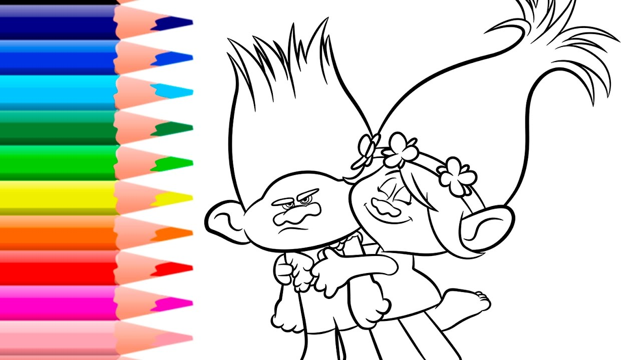 Trolls Coloring Pages Trolls Coloring Book Youtube