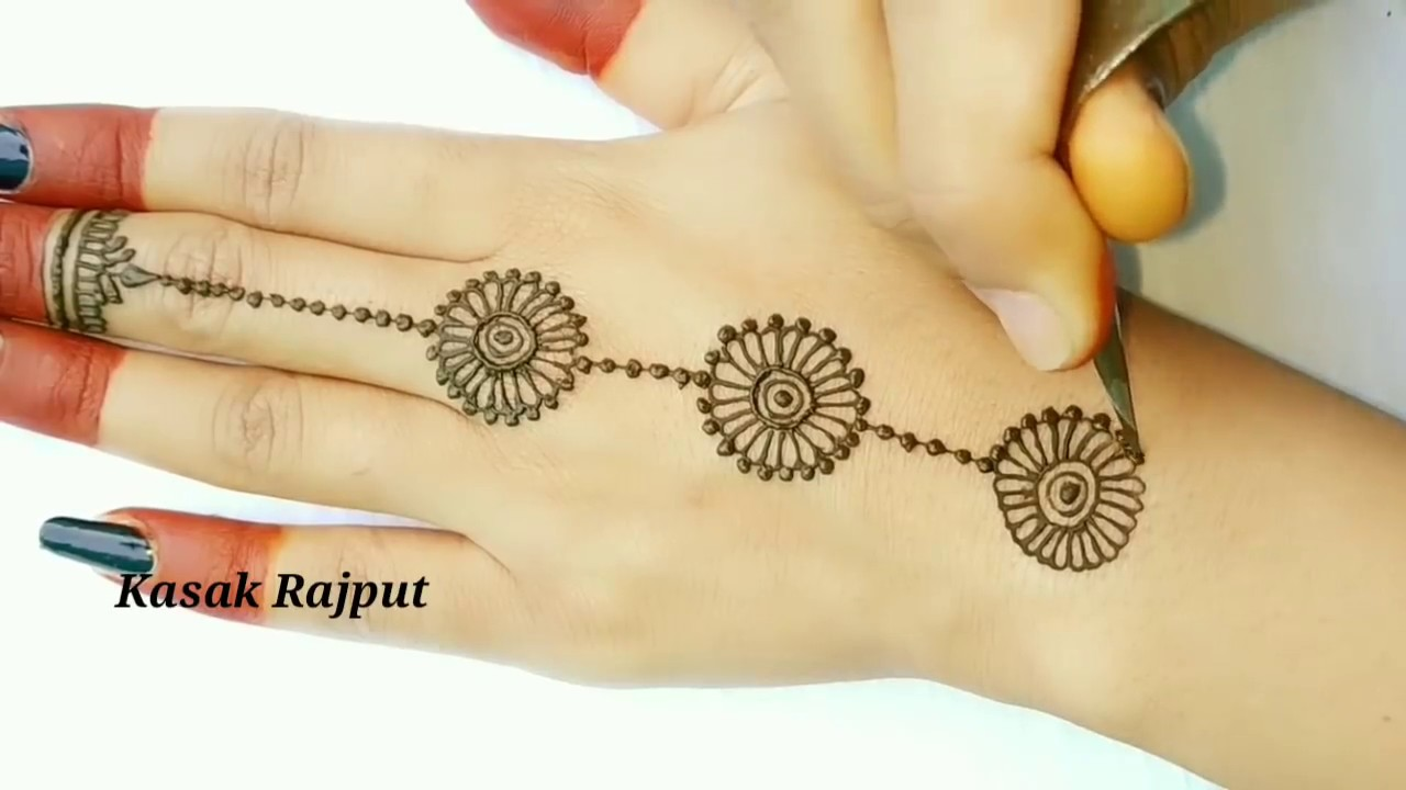 Simple Mehndi Design For Back Hand Side How To Apply Simple Mehndi Design