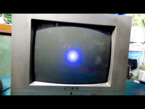 How To Repair Blue Dot Fault Of CRT Color Television - Rare Fault (Full Tutorial)