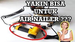 #humijayatech - Testing Air Nailer Dengan Mini Kompresor Airbrush