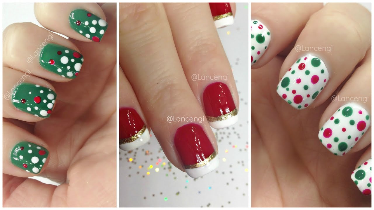 diy cute & easy christmas nail