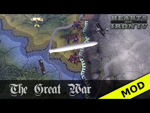 Hearts of Iron IV: The Great War - Air Units In-game Footage