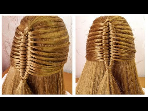 Easy Hairstyle with New Trick for everyday | Coiffure avec tresse originale, facile à faire thumbnail