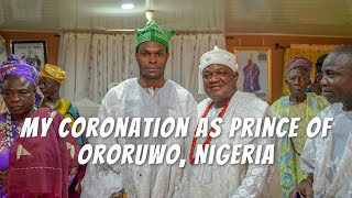 Live. Love. Africa: My Coronation  As Prince Of Ororuwo, Nigeria
