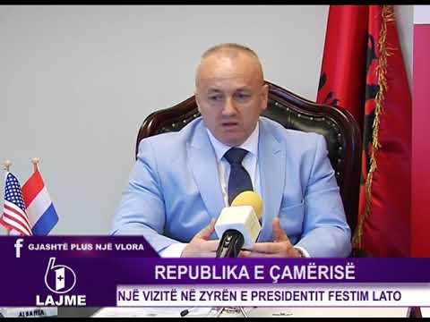 Republik e Çamërisë, vizitë në zyrën e Presidentit Festim Lato.