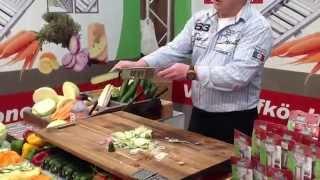 Kак быстро нарезать овощи! Самая быстрая шинковка капусты!(Новинка рынка - универсальная овощерезка кухонный рубанок GIGANT! Самая скоростная в мире, режет в 8 раз быстре..., 2013-07-31T22:15:58.000Z)