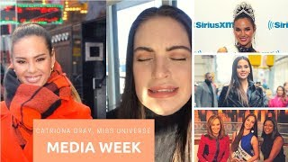 CATRIONA GRAY MEDIA WEEK | 1st Week as MISS UNIVERSE