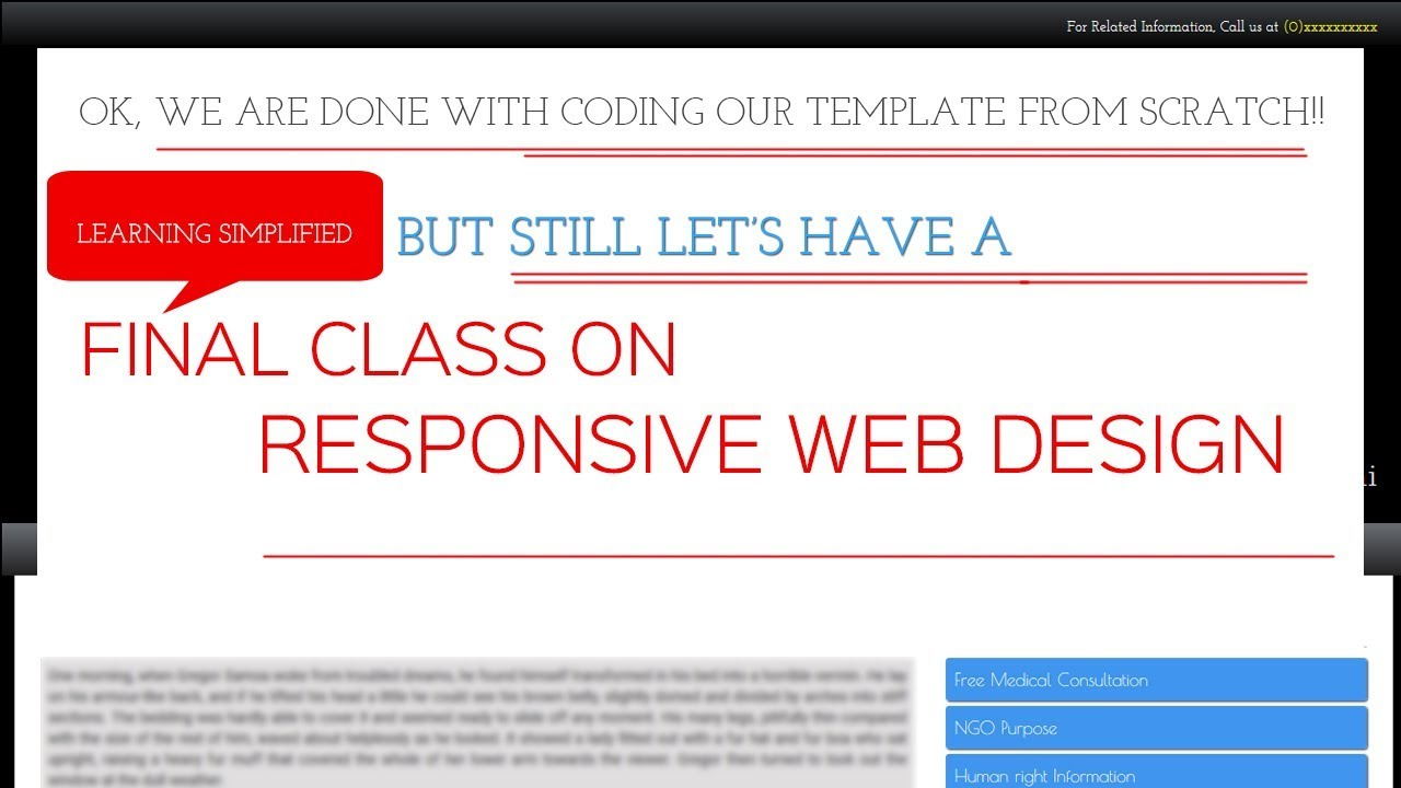 Bootstrap Responsive Web Design Final Discussion Youtube