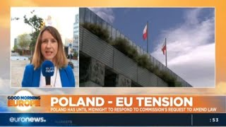 Poland-EU tension: Poland has until midnight to respond to commission's request to amend law