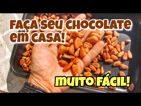 Como fazer Chocolate com a semente de Cacau | Chocolate caseiro