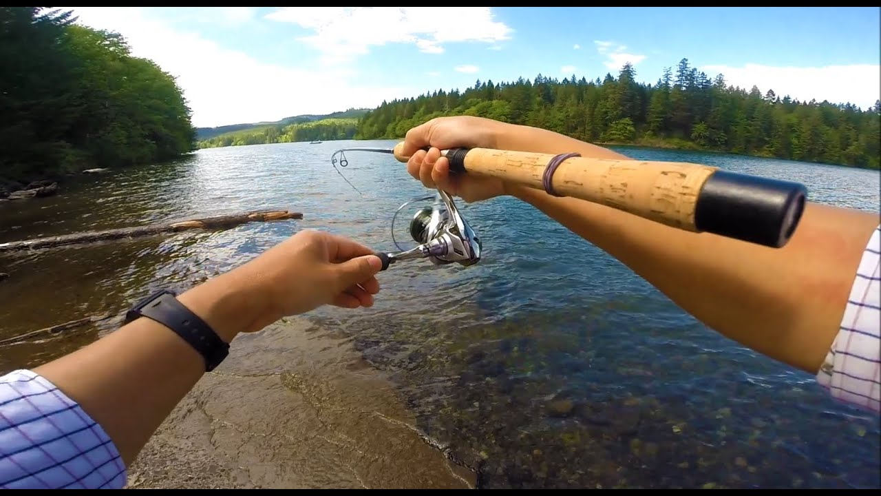 trout fishing with a rooster tail spinner