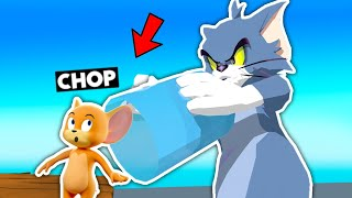 CHOP FELL INTO MY ULTIMATE TRAP MOUSETRAP IN TOM & JERRY SIMULATOR