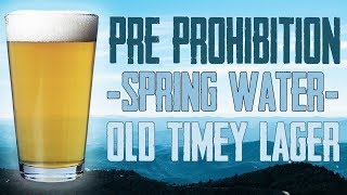 Homebrew Beer: Pre-Prohibition Lager Recipe