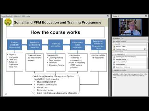 Somaliland PFM Education and Training Programme  Introductory WB1