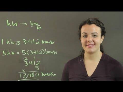 How to Convert kW to BTU/Hour : Conversions & Other Math Tips