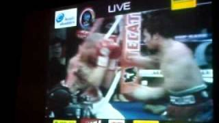 Manila Ocean Park Live Screening Pacquiao Margarito fight_Manny entrance.AVI