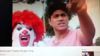 the bossinator reacts to ronald mcdonald tastes burger king